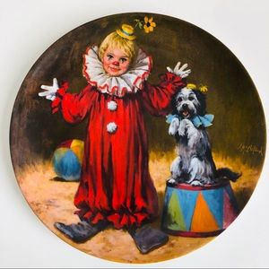 Tommy the Clown Collector Plate by Don McClelland